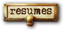 library style label for 'resumes.'