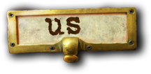 library style label for 'about us.'